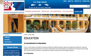 Launch of USVI Economic Development Authority New Microsite
