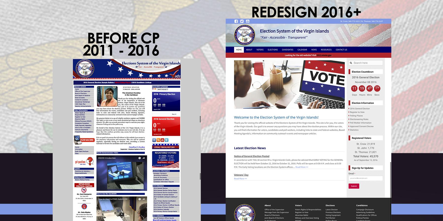VI Election System Website Redesign
