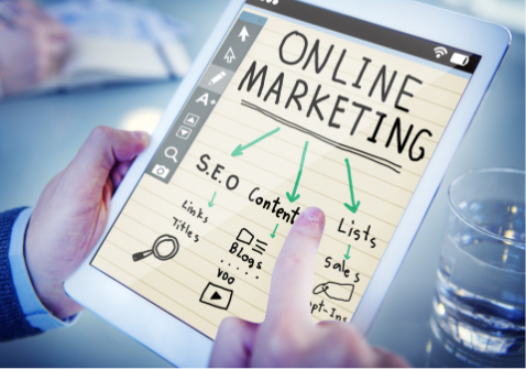 an image showing internet and online marketing strategy