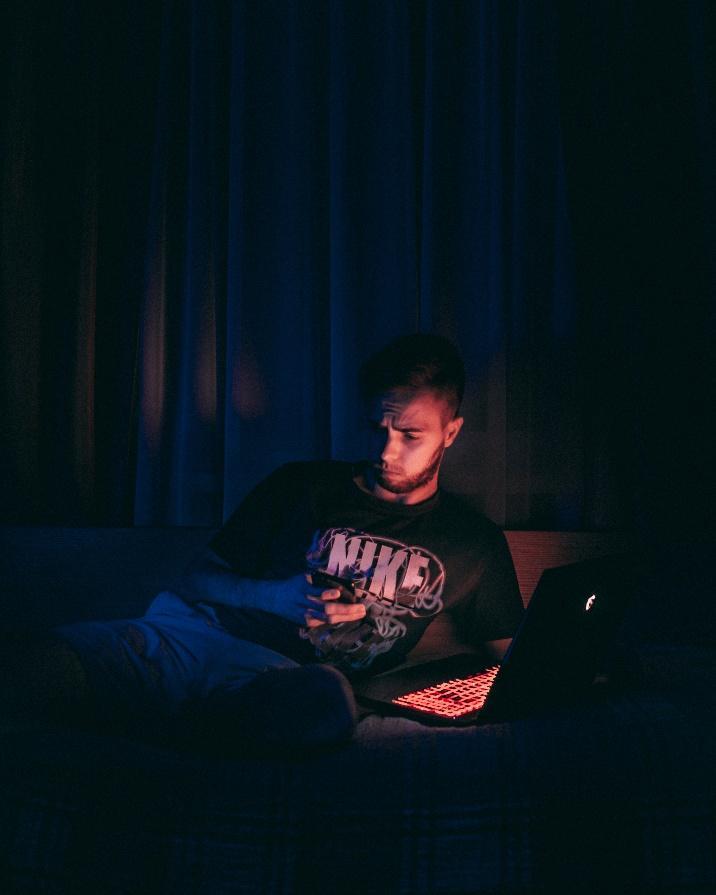Man working on iOS 14 updates