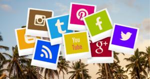 Picture of social media platform options in the Virgin Islands